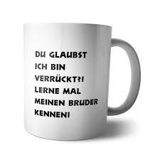 Kaffee Becher Tasse Geschwister Bruder Schwester Schwesterherz