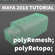 Maya Tutorial - polyRemesh and polyRetopo, Fernando Quinn on ArtStation at  https://www.artstation.com/artwork/A9lOB5 | Tutorial, Maya modeling, Maya