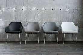 2er Set Stuhl Loui Sessel Kunstleder Esszimmerstuhl Grau