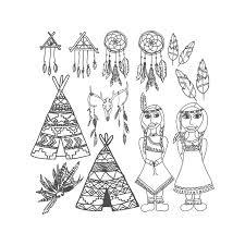 Tribal Page Afdrukbare Kleurplaat Kleurplaat Voor Etsy
