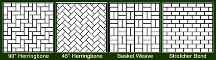 Herringbone Pattern Pavers Cool Paver Pattern Ideas