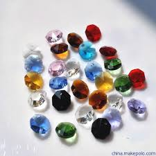 1000pcs lot mixed color 14mm crystal glass beads in 2 holes for crystal chandelier parts or prisms home decoration free