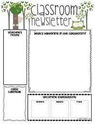 Teachers Newsletter Templates Classroom Newsletter Templates Classroom Newsletter