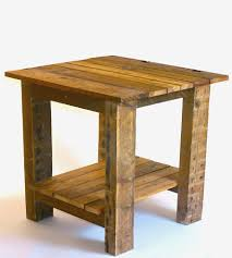 reclaimed wood end table  wb designs