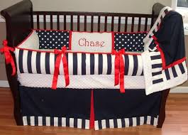 red white and blue crib bedding plaid