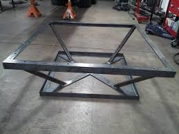 Steel Coffee Table Frame Steel Coffee Table Base Design Ideas Metal Only With Stainless
