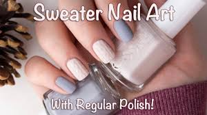 Sweater Nail Art Tutorial - With Regular Polish! - YouTube