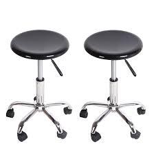 White Rolling Chair Joveco Black Plastic Barstool Chrome Finish Home Decor Rolling