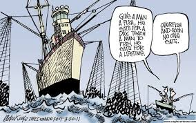 overfishing the sea of secondary attention adtoniq this cartoon by mike keefe cleverly represents an economic theory d the tragedy of the commons which was first proposed in an 1833 essay by victorian