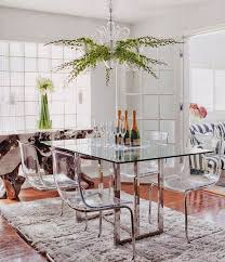 glass dining table with ghost chairs. glass table dining room with ghost chairs l