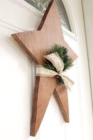 diy wooden star on front door