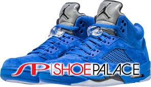 jordan shoes retro 5. jordan retro 5 blue suede mens lifestyle shoe (game royal blue/black) free shipping shoes