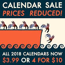 Pegasus Books 2018 Calendar Sale Pegasus Books