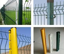 square metal fence post. PVC Coated Steel Post For Green Welded Mesh Fence Panel Installation Square Metal