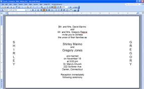 Invitations In Word Template Printing Invitations Microsoft Word Alternative Programs
