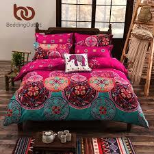 bedding bohemian bedding set soft colored bedclothes for home boho duvet cover bedlinen 4pcs twin queen