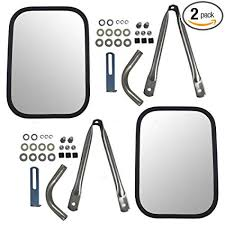 Amazon.com: Set Universal Camper Tow Mirrors 7.5 x 10.5 Stainless ...