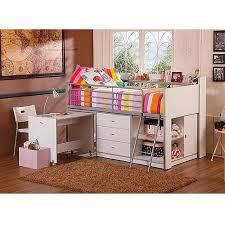 voguish twin loft bunk bed storage desk kids bedroom furniture girls bunkbed girls girls toy storage