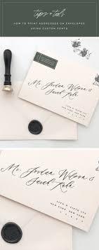 Tutorial How To Print Addresses On Envelopes Using Custom