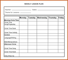 Math Lesson Plan Template Doc Child Care Lesson Plan Templates