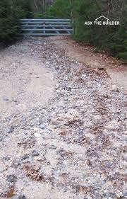 gravel drive heavy rain