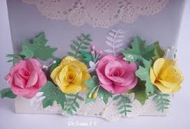 Paper Punches Flower Cards Crafts Kids Projects Easy Heart Punch Rose Flower Tutorial