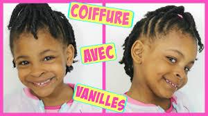 Coiffure Enfant Avec Des Vanilles Pour Fille Afro Cheveux Cr Pus