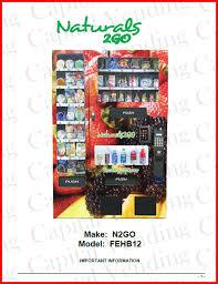 Naturals To Go Vending Machines For Sale Beauteous Naturals 48 Go FEHB148