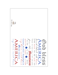 Printable Note Cards God Bless America Printable Note Cards Helping You Celebrate