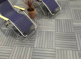 composite quick deck tile silver grey