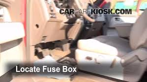 interior fuse box location ford f ford f  locate interior fuse box and remove cover
