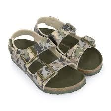 Designer Birkenstock Sandals Birkenstock Dino Camo Khaki Milano Sandals Kids Designer