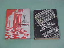 trans am manual 1985 firebird trans am ta t a service shop repair manual w wiring diagrams