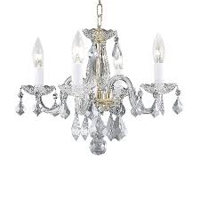 elegant lighting rococo 15 in 4 light gold crystal crystal candle chandelier