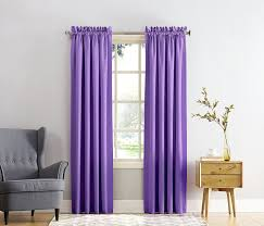 com sun zero barrow energy efficient rod pocket curtain panel 54 x 63 purple home kitchen