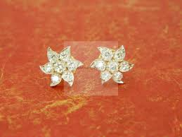Diamond Earrings Traditional Designs Nakshatra 7 Stone Diamond Kudi Mango Design