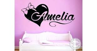 wall stickers decoration girls personalised bedroom nursery wall sticker decor decal with bow heart wall decor wall stickers decoration
