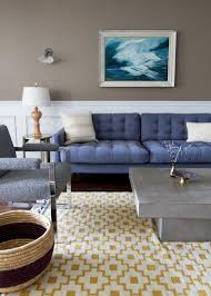 Taupe Living Room Blue Tufted Sofa Foodplacebadtrips