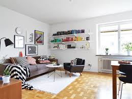 appealing scandinavian living room  living room funky apartment with pops of colour scandinavian living r