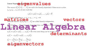 our linear algebra tutorials at a glance