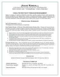 Project Manager Resume Samples Project Manager Sample Resume It