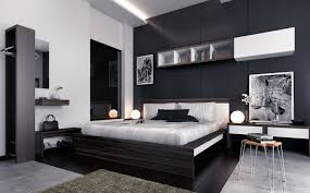 cozy blue black bedroom bedroom. Bedroom, Black And White Bedroom Decor Ideas Striped Chaise Lounge Cozy Wooden Loft Bed With Blue