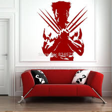 home decor wall sticker the wolverine xmen dc comic cool boys wall art sticker decal diy home decoration decor wall mural removable wall stickers removable