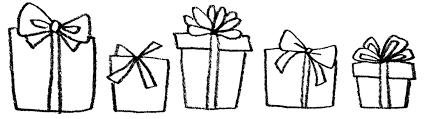 プレゼント贈り物のイラスト えんぴつと画用紙