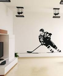 hockey wall decal vinyl wall decal sticker hockey player wall decals . hockey  wall decal ...