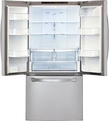 French Door 22 cubic foot french door refrigerator pictures : LG LFC22770ST 30 Inch French Door Refrigerator with Smart Cooling ...