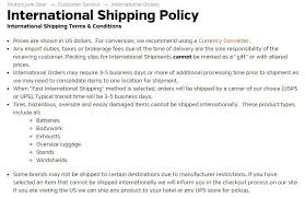 shipping info template sample shipping policy template termsfeed