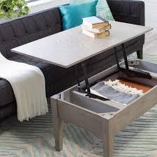 turner lift top coffee table  gray  hayneedle