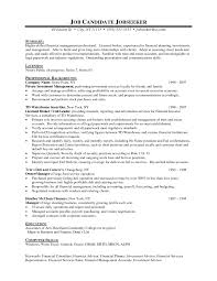 job resume financial advisor resume examples resume summary financial planner resume sample manager experience computer skills financial advisor objective