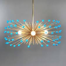 turquoise lighting. Turquoise Lighting. _hover Aqua Blue Color Beaded Gold Urchin Chandelier On Lighting I